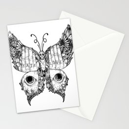 hate love butterfly Stationery Cards