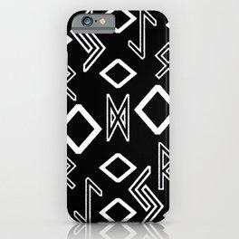 Healing runes black and white iPhone Case