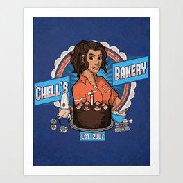 Chell's Bakery Art Print
