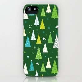 Christmas Forest iPhone Case