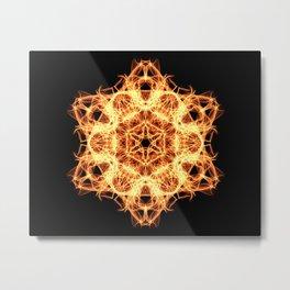 Lighting mandala Metal Print