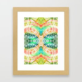 tropical trippy Framed Art Print