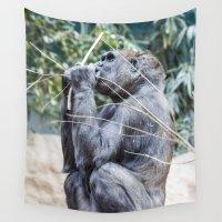 gorilla Wall Tapestries featuring Gorilla by Veronika