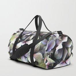 hydrangea flower macro Duffle Bag