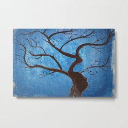 Pregnant Tree Metal Print