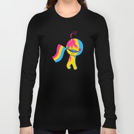 Pansexual Pride Mad!Sup Guy Long Sleeve T-shirt