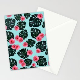 Tropical pattern n.1 - pale blue Stationery Cards