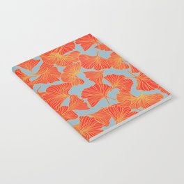 Tumbling Ginkgo Red Notebook