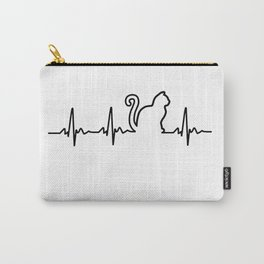 Cat Heartbeat Carry-All Pouch