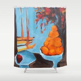 golden girls fruit bowl Shower Curtain