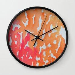 Rivets in Orange Wall Clock