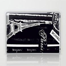 bonsoir -black and white Laptop & iPad Skin