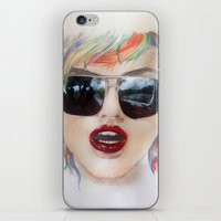 sunglasses iPhone & iPod Skins featuring Sunglasses by Meepsketch