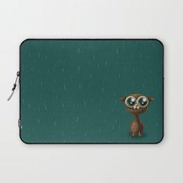 Wet cat with big eyes Laptop Sleeve
