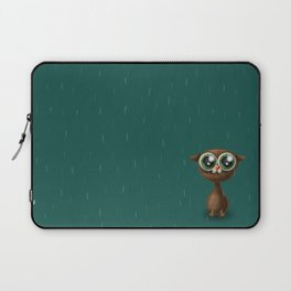 Wet cat with big eyes Laptop Sleeve