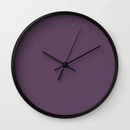 PPG Glidden Pansy Petal (Dark Purple) PPG1177-7 Solid Color Wall Clock