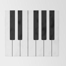 Piano Keys - Music Throw Blanket