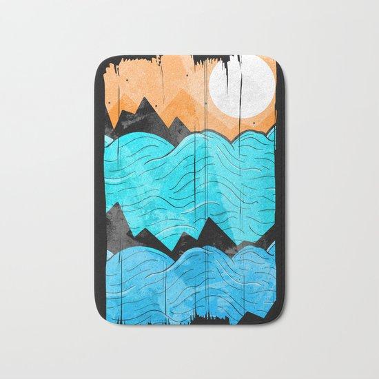 The Sea Waves Bath Mat