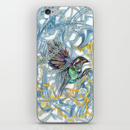 Songbird Trapped in a Cage of Its Expectations iPhone Skin