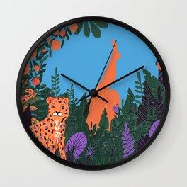 Danger in Paradise Wall Clock