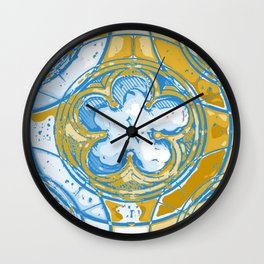 Cinquefoil 3 Wall Clock