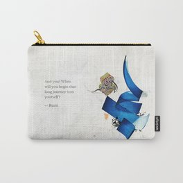 Arabic Calligraphy - Rumi - Journey Into Self Carry-All Pouch