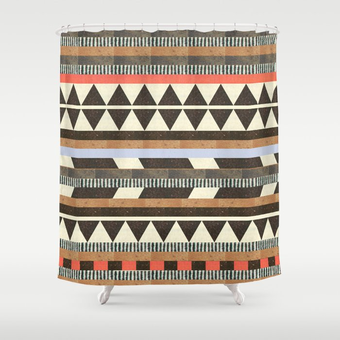 DG Aztec No1 Shower Curtain By Dawngardner