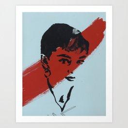 Audrey 5 Art Print