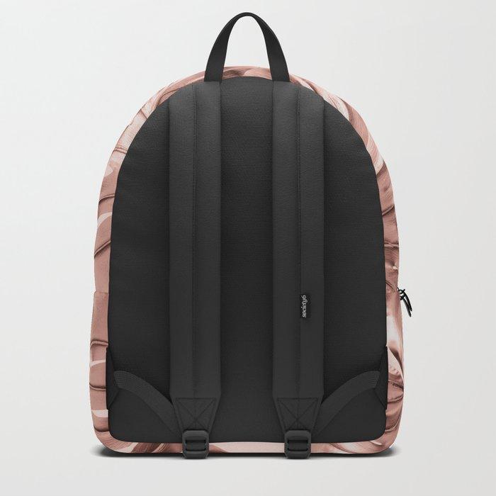 Monstera Rose Gold Backpack