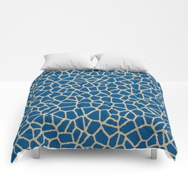 staklo (dark blue with coffee) Comforters
