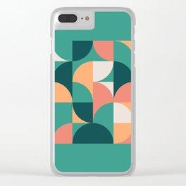 Mid Century Geometric 20 Clear iPhone Case