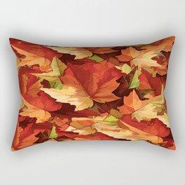 Autumn Leaves Abstract - Painterly Rectangular Pillow