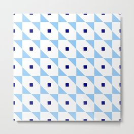 square and tartan 81- blue Metal Print