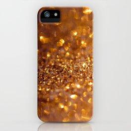 Golden glitter #society6 iPhone Case