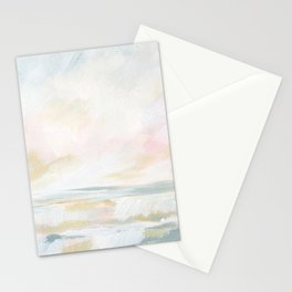 Golden Hour - Pastel Seascape Stationery Cards