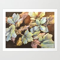 Azure Blossoms Art Print