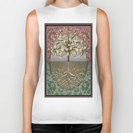 Tree of Life Heart 2 Biker Tank