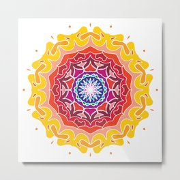 Colorful Rangoli Design Metal Print