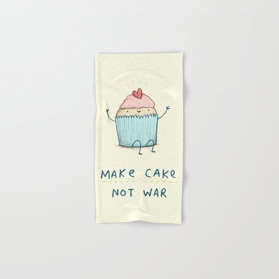 Make Cake Not War Hand & Bath Towel
