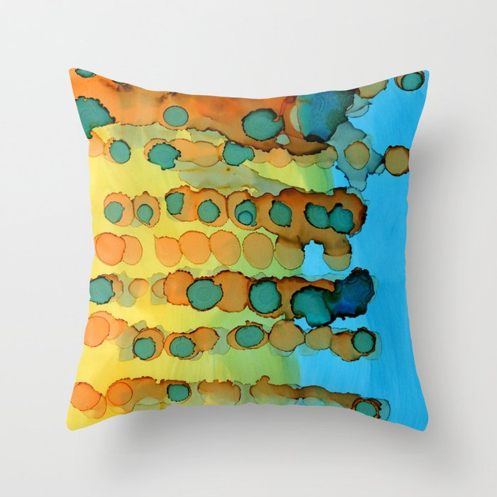 Continually Evolving Throw Pillow