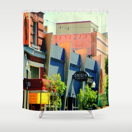 OriginL - Waxing Eyelashes Next Door Shower Curtain