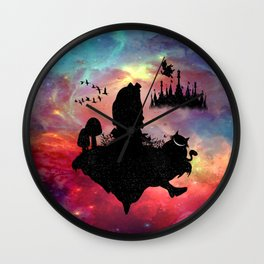 Back To Wonderland Wall Clock