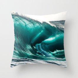 Crystal Clear High Surf - Scarborough Beach, Narragansett, Rhode Island Throw Pillow