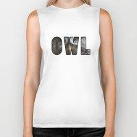 font Biker Tanks featuring Font Owl by Jinzha Bloodrose