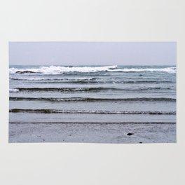 Winter Rippling Waves Rug