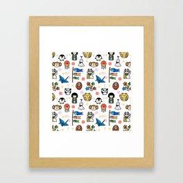 Lucky Japan Doodle Framed Art Print