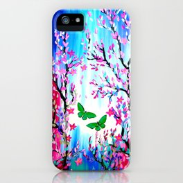 Butterflies and Cherry Blossom iPhone Case