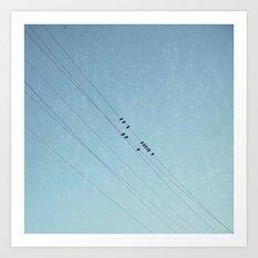 on a blue day Art Print