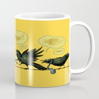 politics Mugs featuring Bird Politics by Aimee Cozza