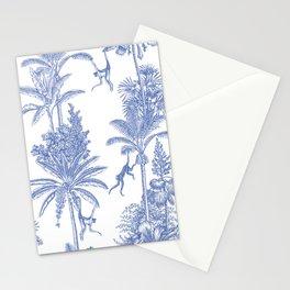 monkey and palms Stationery Cards